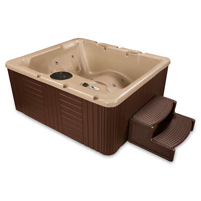 Celestial Spas Bel-Air 3 to 4-Person 14 Jet Resin Spa - Cobblestone/Espresso