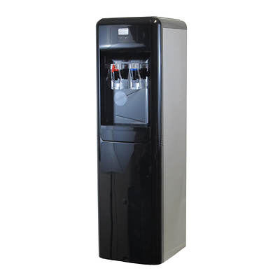 Aquverse Commercial-Grade Hot and Cold Bottleless Water Station - Black/Stainless Steel