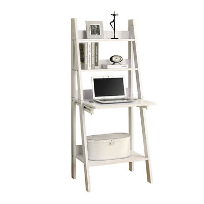 Monarch Ladder-Style Bookcase with Drop-Down Desk - White - BJs ...