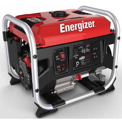 Energizer Portable Heavy-Duty Gas Generator with 1,000W Running Watts, 1,300W Peak Watts