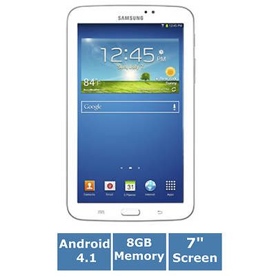 "Samsung Galaxy Tab 3 SM-T210RZWYXAR 7"" Android 4.1.2 Jelly Bean Tablet"