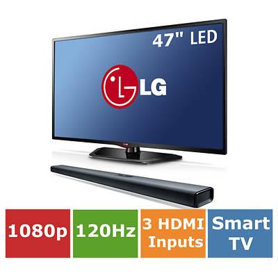 "LG 47"" Smart LED 1080p 120Hz Wi-Fi with Bonus Sound Bar"