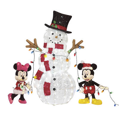 Disney 24 Lighted Mickey and Minnie with 54 Lighted Snowman