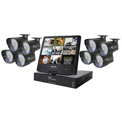 Night Owl 8-Channel H.264 Smart DVR with 500GB Hard Drive, 8 High-Resolution Night Vision Cameras (2 Audio Enabled)