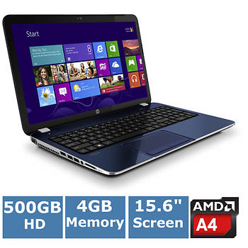HP Pavilion 15-e015nr Laptop, 2.7GHz AMD Elite A4-5150M Accelerated Processor