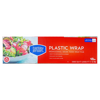 "Berkley Jensen 18"" x 3,000' Plastic Film Wrap - Clear"