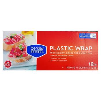 "Berkley Jensen 12"" x 3,000' Plastic Film Wrap - Clear"
