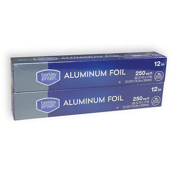 Berkley Jensen Aluminum Foil, 2 pk./250 sq. ft.