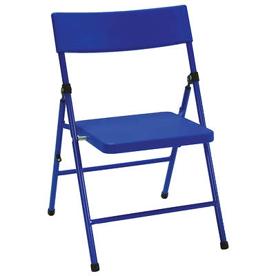 Cosco Products Kids' Pinch-Free Folding Chair, 4-Pk - Blue