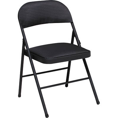 Cosco Products Fabric Folding Chair, 4-Pk - Black
