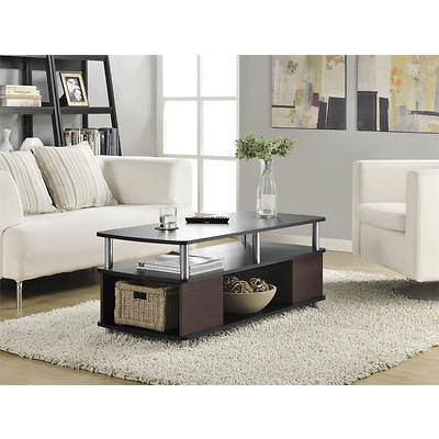 Altra Furniture Carson Coffee Table - Black/Espresso/Silver