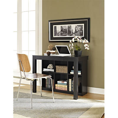 Altra Furniture Parsons Desk with Bookcase - Black Oak