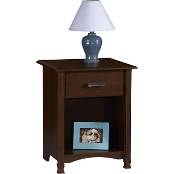 Ameriwood Night Stand with Decorative Feet - Resort Cherry