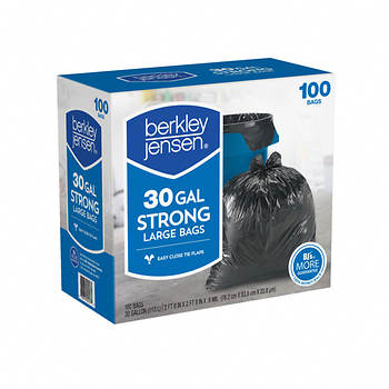 Berkley Jensen .95mil Large Bags, 30-gal. Capacity, 100 ct.