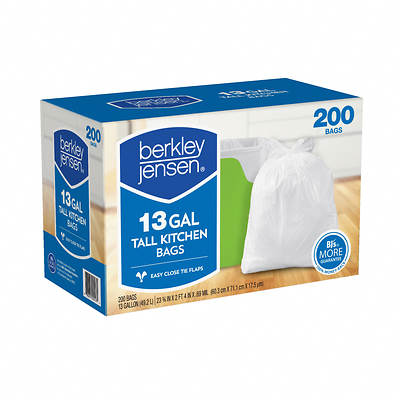 Berkley & Jensen .69mil Kitchen Bags, 13 Gallon, 200 Bags