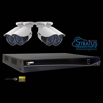 Lorex netHD 8-Channel 4 High-Definition IP Bullet Cameras w/2TB NVR
