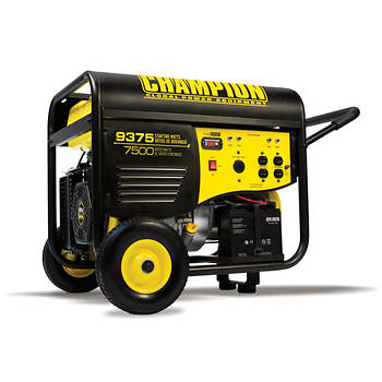Champion Power Equipment Portable Gas Generator with Electric Start with 7,500 Running Watts, 9,375 Peak Watts and Wheel Kit