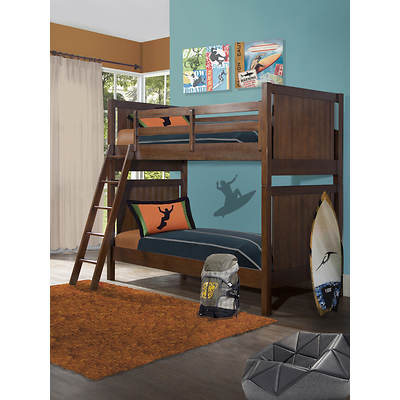 Point South Furnishings Jaxson Twin-Size Bunk - Brown