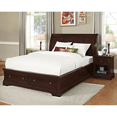 Point South Furnishings St. Stephens King-Size Bed - Brown