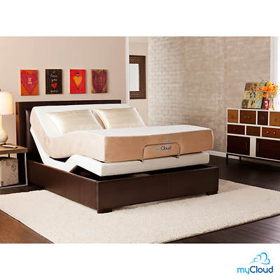SEI myCloud Queen-Size Adjustable Bed Frame with Mattress