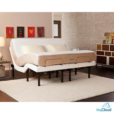 SEI myCloud California King-Size Adjustable Bed Frame with Mattress