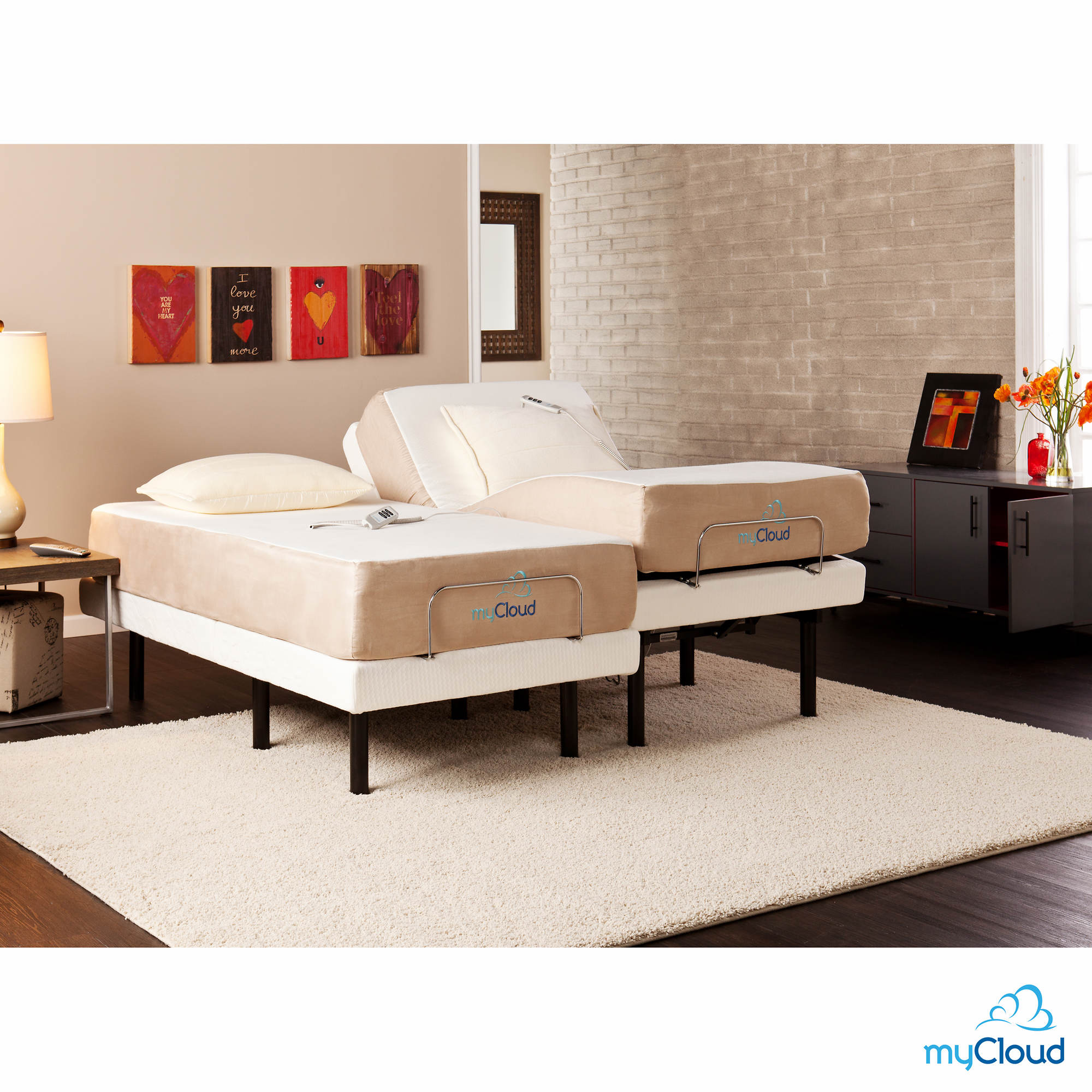Sei Mycloud Split King Size Adjustable Bed Frame With Mattress Bj 39 S Wholesale Club