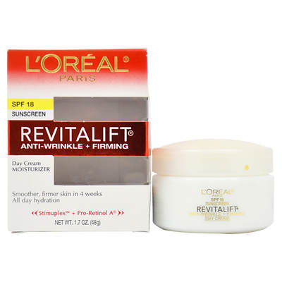 L'Oreal Paris Revitalift Anti Wrinkle & Firming Moisturizer For Face & Neck 1.7 Oz. Day Cream