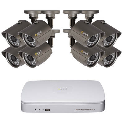 Q-See 16-Channel 960H DVR with 1TB Hard Drive, 8 High-Resolution Cameras with Night Vision