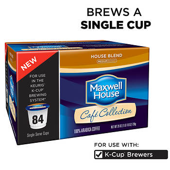 Maxwell House Cafe Collection, House Blend K-Cup Pods, 84 Count