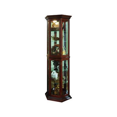 "Pulaski 70"" Curio Cabinet - Brown"