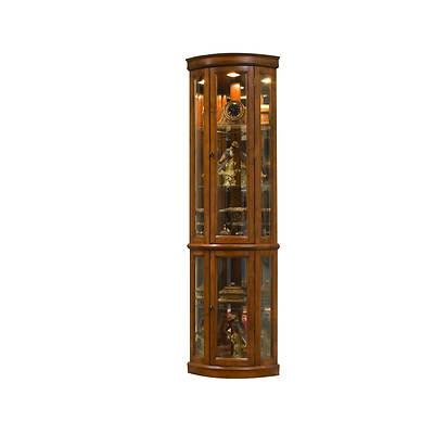 "Pulaski 75"" Curio Cabinet - Edwardian Cherry"