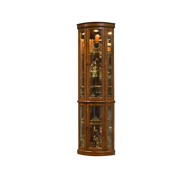 "Hampton Point 75"" Curio Cabinet - Edwardian Cherry"