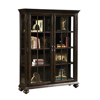"Hampton Point 63"" Curio Cabinet - Pepper Oak"