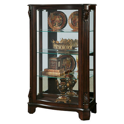 "Pulaski 56"" Curio Cabinet - Cherry"