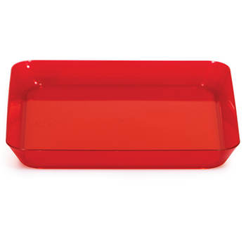 "TrendWare 5"" Square Plastic Plate, 96 Count - Translucent Red"