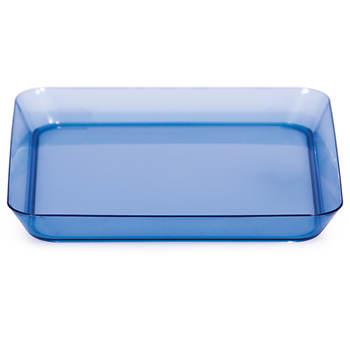"""TrendWare 5"""" Square Plastic Plate, 96 Count - Translucent Blue"""