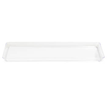 "TrendWare 6"" x 15 1/2"" Rectangular Plastic Tray, 6 ct. - Clear"