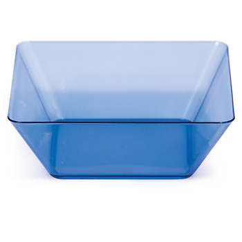 "TrendWare 5"" Square Plastic Bowl, 48 ct. - Translucent Blue"