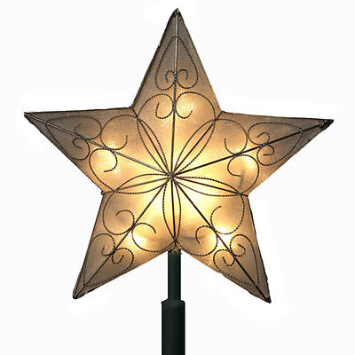 "Kurt Adler 8 1/2"" UL Lighted Star Tree Topper"