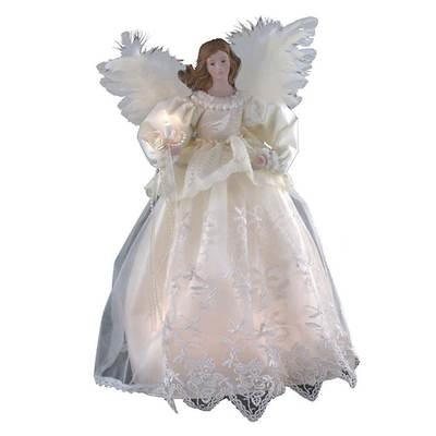 "Kurt Adler 14 1/2"" Lighted Angel Tree Topper"