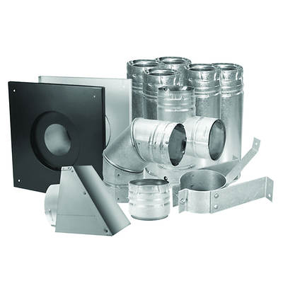 "Duravent 3"" Stainless Steel Pellet Stove Vent Kit"