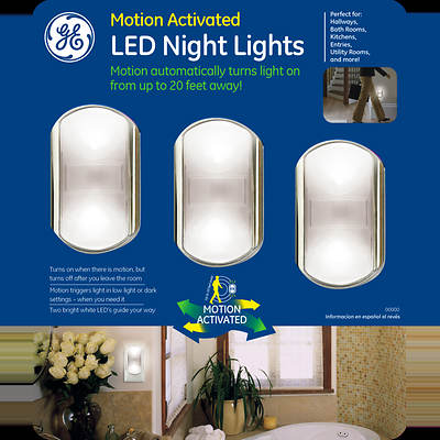 GE Motion Activated LED Night Light, 3-Pk
