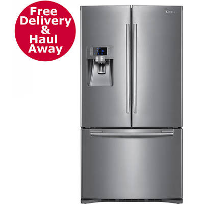 Samsung 23-Cu. Ft. Counter Depth French Door Refrigerator with Cool Select Pantry, Water and Ice Dispenser - Stainless Steel