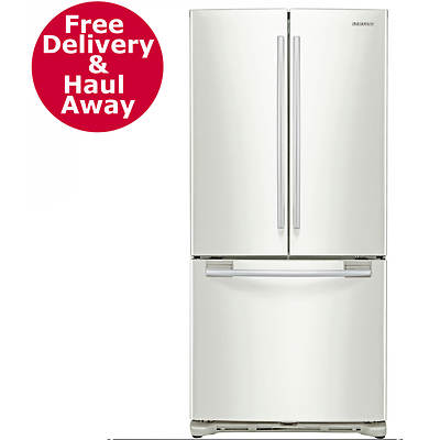 Samsung 20-Cu. Ft. Wide French Door Refrigerator - Smooth White