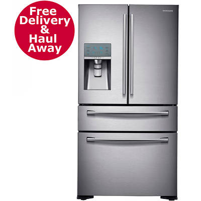 Samsung 24-Cu. Ft. Counter Depth 4-Door Refrigerator with FlexZone Drawer - Stainless Steel