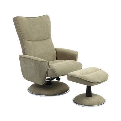 Mac Motion Chairs Swivel Recliner with Ottoman - Avocado/Chrome