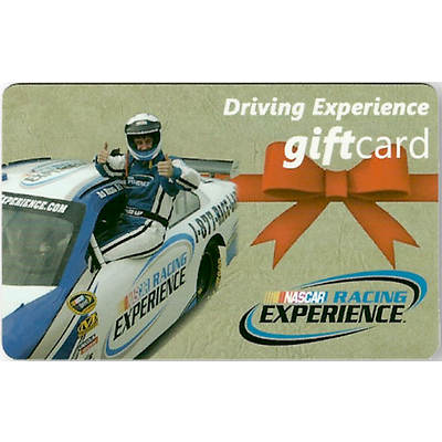 $399.99 NASCAR Racing Experience Driving Experience Gift Card