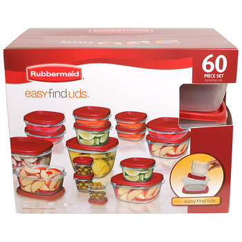 Rubbermaid 60-Pc. Easy Find Lids Set