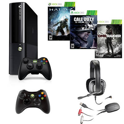Xbox 360 250GB System Bundle with Call of Duty: Ghosts and 2 Bonus Games (Xbox 360)
