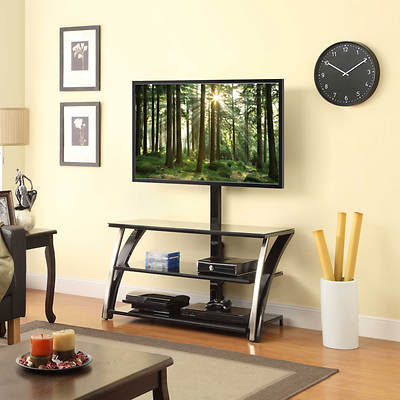 "Whalen 44"" 3-In-1 Entertainment Center - Black"
